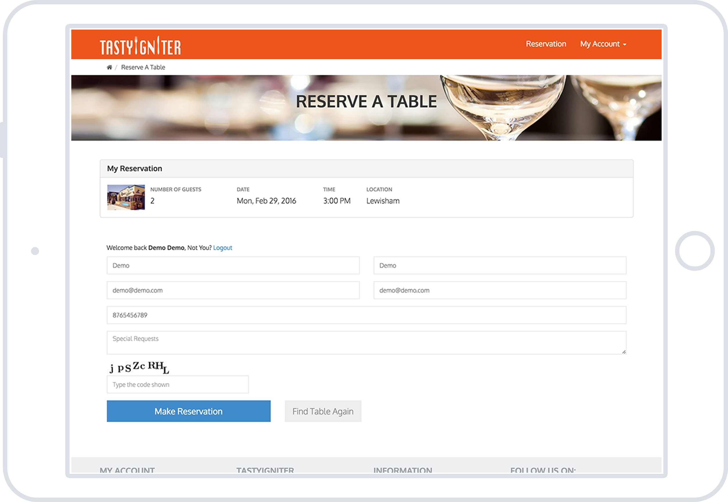 Features Of TastyIgniter Restaurant Management Software TastyIgniter - Table reservation software